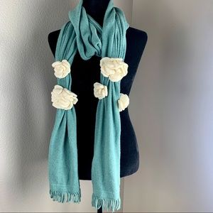 Beautiful MOTH Scarf with Flowers
